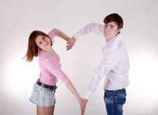 Free Romantic Couple Royalty Free Stock Image - 13873036