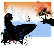 Free California Windsurfing Royalty Free Stock Photo - 13873115