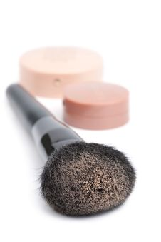 Free Black Brush And Powder Isolated Royalty Free Stock Images - 13873259