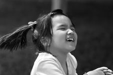 Free Laughing Girl At The Summer Park Royalty Free Stock Photo - 13873905
