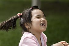 Free Laughing Girl At The Summer Park Stock Photography - 13873912