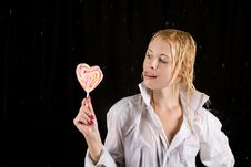 Free Girl With Lollipop Royalty Free Stock Photo - 13874165