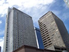 Free Downtown Denver Skyline Stock Image - 13874621