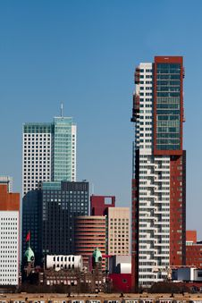 Free Modern Architecture In Rotterdam Stock Image - 13875261