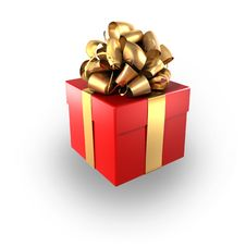 Free Red Gift Royalty Free Stock Photos - 13875548