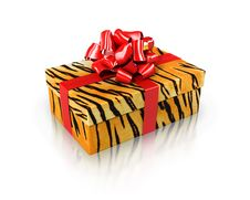 Free Gift Tiger Royalty Free Stock Photography - 13875597