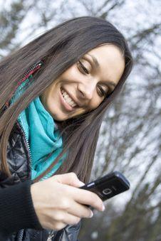 Free Beautiful Woman & SMS Stock Photos - 13875973