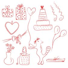 Birthday Holiday Doodle Royalty Free Stock Images