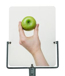 Free Green Apple Road Sign Stock Image - 13877141