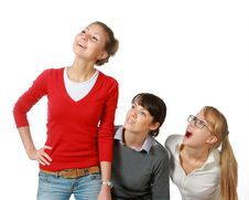 Free Three Girls-girl-friends Stock Photos - 13877213