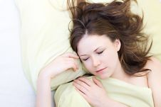 Free Young Woman Sleeping Royalty Free Stock Photography - 13877487
