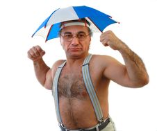 Man With An Umbrella Royalty Free Stock Photography