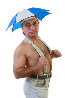 Man With An Umbrella Royalty Free Stock Image