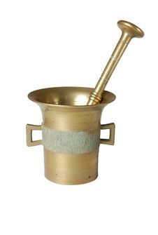 Old Gold Mortar Stock Image