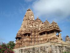 Temple At Khajuraho Royalty Free Stock Images