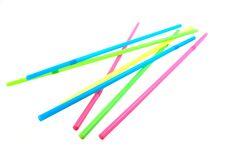 Free Straws On White Background Stock Photos - 13879243