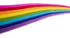 Free Bright Rainbow Knitted Scarf Royalty Free Stock Photo - 13879325