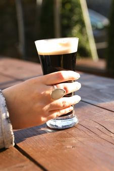 Free Glass Of Stout, Summer Evening Stock Photos - 13879543