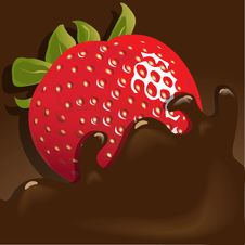 Free Strawberry In Chocolate Stock Photography - 13879762