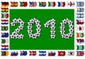 Free 2010 - Soccer And Nation Flags Royalty Free Stock Images - 13882239