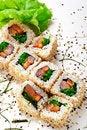 Free Smoked Salmon Roll Stock Photos - 13883483