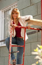 Free Girl On A Building Stair Royalty Free Stock Images - 13883719