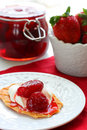 Free Waffles With Strawberry Jam Stock Photos - 13888253