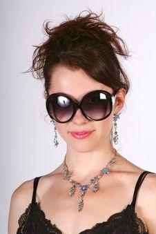 Free Girl In The Big Sun Glasses Stock Photo - 13880110