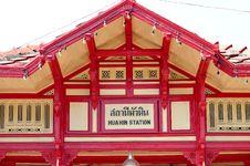 Free Hua-Hin Train Station Royalty Free Stock Photography - 13880287