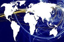 Free World Map Royalty Free Stock Photo - 13880475