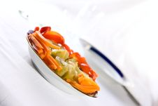 Free Canned Vegetables On Plate Royalty Free Stock Images - 13881179