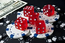 Free Gambling Dices For Casinò Games Royalty Free Stock Image - 13881386
