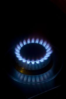 Free Blue Flame  Stove Royalty Free Stock Photography - 13881387