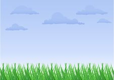 Free Green Grass The Blue Sky Royalty Free Stock Photo - 13881995