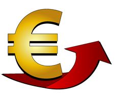 Free Euro Sign With Arrow Stock Image - 13882261