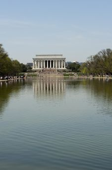 Free The Lincoln Memorial Reflected In Pool Stock Image - 13883001