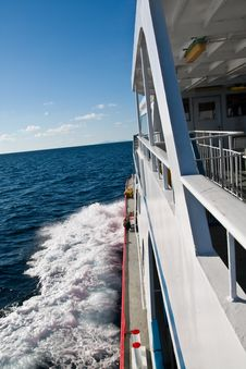 Free Ferry In The Ocean Stock Photos - 13883153
