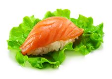 Free Smoked Salmon Sushi Royalty Free Stock Images - 13883489