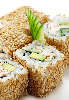 Free California Roll With Sesame Stock Images - 13883504