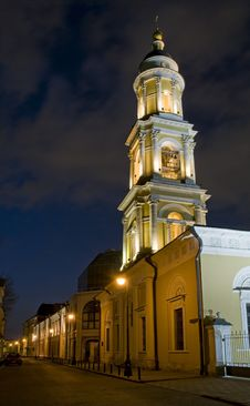 Free Moscow Old Street At Night Stock Image - 13883771
