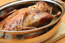 Free Roasted Duck In Pan Royalty Free Stock Photography - 13883917