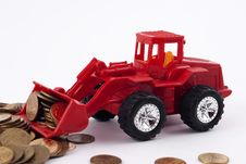 Free Tractor Rakes Coins Stock Photo - 13884250