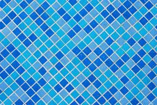 Blue Tiles Wall Royalty Free Stock Photography
