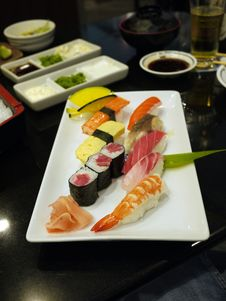 Japanese Food, Sashimi And Maki Stock Image