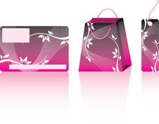 Free Pink Shopping Set. Stock Photo - 13885370