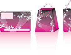 Pink Shopping Set. Stock Photo