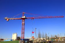 Free Large Crane At Work. Stock Images - 13885554