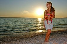Free Beautiful Woman At The Beach Royalty Free Stock Photo - 13886985