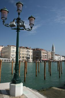 Free Mooring Posts In The Grand Canal, Venice Stock Image - 13887911