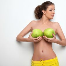 Sexual Girl And Citrus Pamela Stock Images